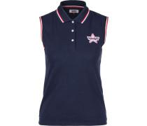 Poloshirt nachtblau / rot / weiß