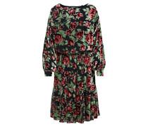 Kleid hellgrün / karminrot