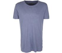T-Shirt 'crew Long' taubenblau