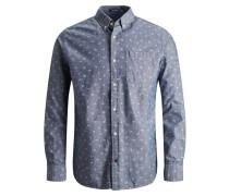 Hemd rauchblau / weiß
