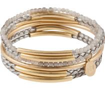 Armband 'p318' beige / gold