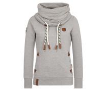 Sweatshirt braun / graumeliert / weiß