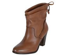 Ankle Boots 'Giovana' aus Leder braun / cognac