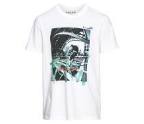 T-Shirt 'RN Photo' mischfarben / weiß