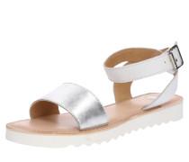 Sandale 'Taribu' silber / weiß