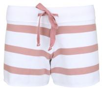 Sweatshorts 'fleece Stripe' rosé / weiß