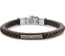 Armband 'Komang' braun / silber