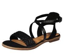 Sandale mit Riemchen in Flecht-Optik