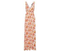 Kleid 'ilse-Dr1' orange / rot / weiß