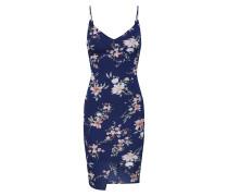 Kleid 'floral Wrap Front Slip Dress' blau