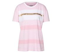 Shirt 'Portland' rosa / weiß