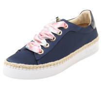 Sneaker in Satin-Optik 'low' blau