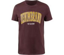 T-Shirt goldgelb / bordeaux