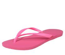 Badepantolette mit Zehensteg pink