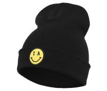 Beanie 'LA Smile' gelb / schwarz