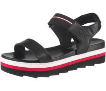Sandale rot / schwarz / weiß