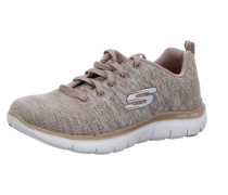 Sneakers taupe / blutrot