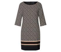 Kleid burgunder / schwarz / naturweiß