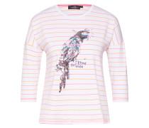 Shirt rosa / weiß