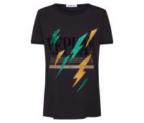 T-Shirt goldgelb / mint / schwarz