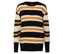 Pullover creme / hellorange / schwarz