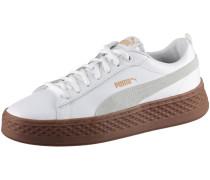Sneaker 'smash Platform L' braun / weiß