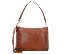'Lichene' Handtasche Leder 29 cm cognac