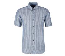Regular: Kurzarmhemd aus Leinenmix