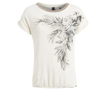 T-Shirt 'oliana Placement' weiß