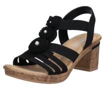 Sandale hellbraun / schwarz