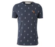 T-Shirt 'Fuck' blau