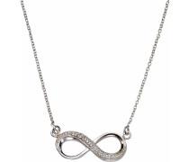 Silberkette »Infinity« silber / weiß