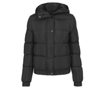 Hooded Puffer Jacket schwarz
