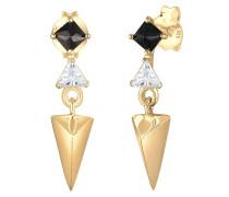 Ohrringe gold / schwarz