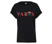 T-Shirt 'TS Parisian Rose' schwarz