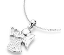 Kette mit Anhänger mit Zirkonia »Engel mit Herz«