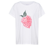 T Shirt 'Nela Berry' pink / offwhite