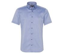 Kurzarm Hemd 'slim Fit' blau