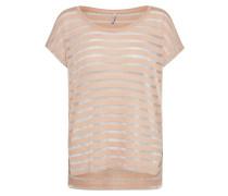 T-Shirt silbergrau / rosa
