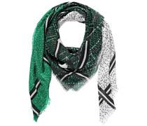 Tuch grün / schwarz / weiß