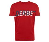 T-Shirt 'D_to_E Boys' blau / rot