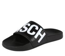 Slipper 'Hawaii' schwarz / weiß