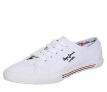 Sneaker in Canvas-Optik weiß