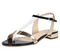 Sandale 'Platin Multi' gold / schwarz / weiß