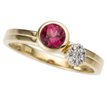 Ring gold / bordeaux / silber