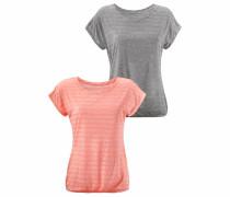 T-Shirts (2 Stück) graumeliert / lachs