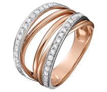 Ring rosegold / silber / transparent