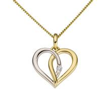 Herzanhänger gold / silber