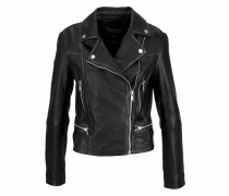Lederjacke »L.a. Leather Biker« schwarz