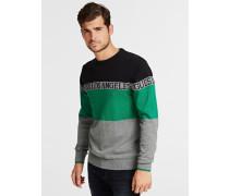 Pullover grün / grau / schwarz